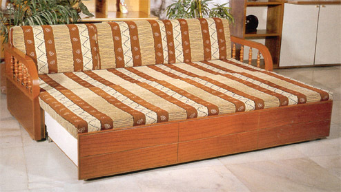 Classic Wooden Sofa Cum bed